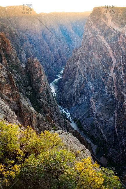 Gunnison River flowing in Black Canyon of the Gunnison National Park, Colorado