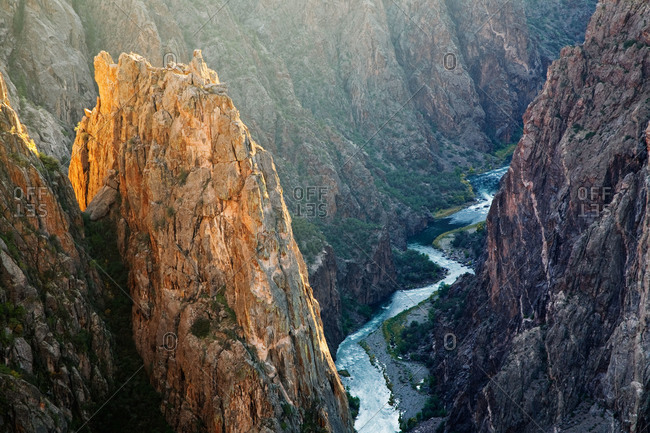 The Gunnison River in Black Canyon of the Gunnison National Park, Colorado