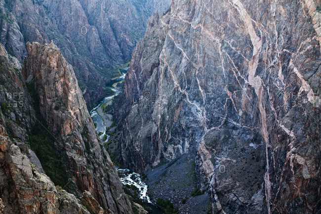 The Painted Wall with the Gunnison River in Colorado
