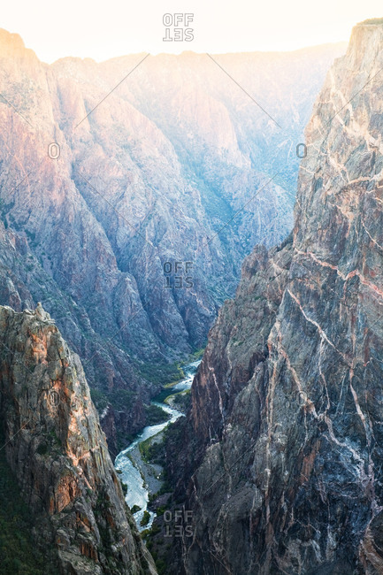 The Painted Wall and the Gunnison River in Black Canyon of the Gunnison National Park, Colorado