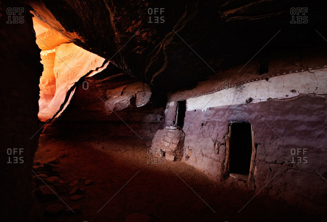 A cliff dwelling of the Ancestral Puebloans, Cedar Mesa, Utah