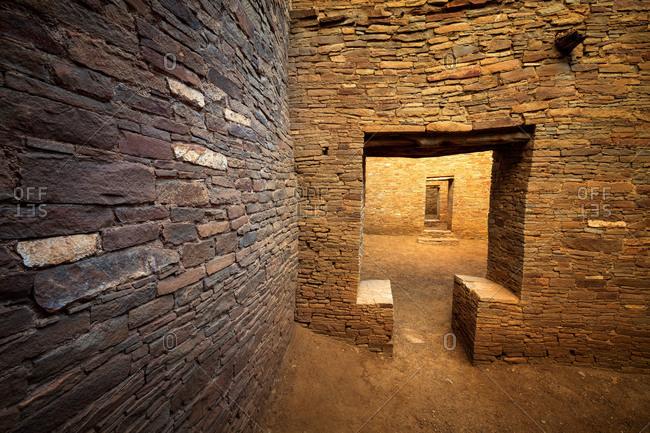 T-Door in a Pueblo Bonito ruin, Chaco Culture National Historical Park, New Mexico