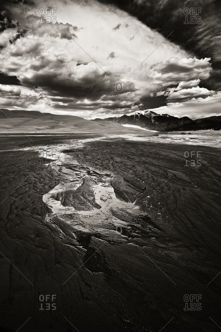Medano Creek in the Great Sand Dunes National Park, Colorado