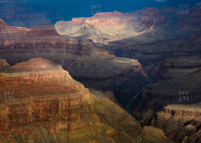 The Colorado River as viewed from Pima Point on the South Rim of Grand Canyon National Park