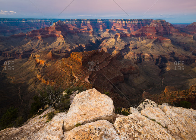 Shoshone Point on the South Rim of Grand Canyon National Park in Arizona