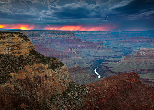 Storm above the Grand Canyon National Park