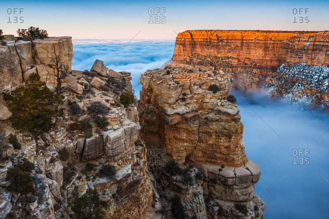 Temperature inversion at the Grand Canyon National Park