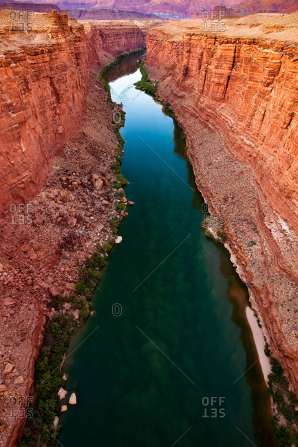 The Colorado River in Marble Canyon, Grand Canyon National Park, Arizona