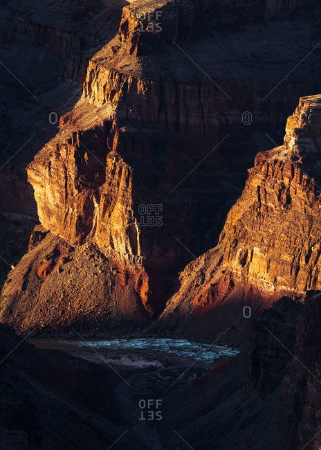Hance Rapids on the Colorado River in Grand Canyon National Park