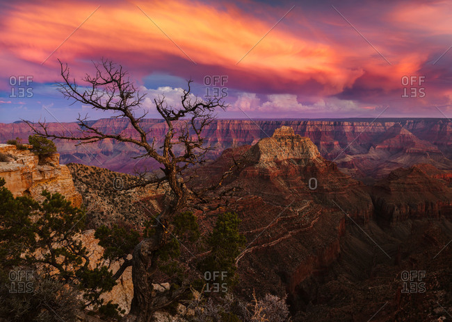 Sunset from the North Rim of Grand Canyon National Park, USA
