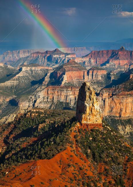 Rainbow at the Grand Canyon in Arizona, USA