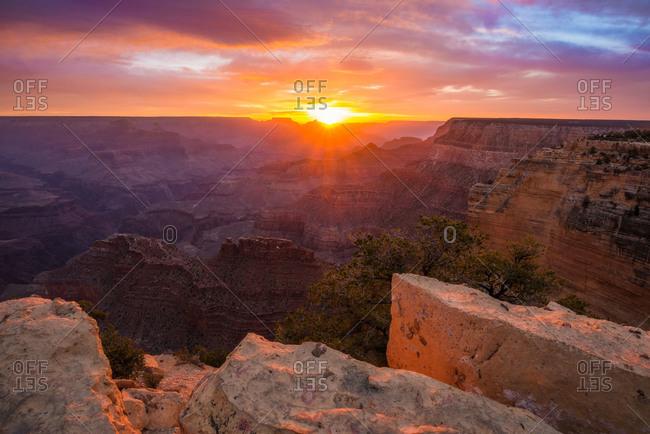 Sunrise at the Grand Canyon in Arizona, USA