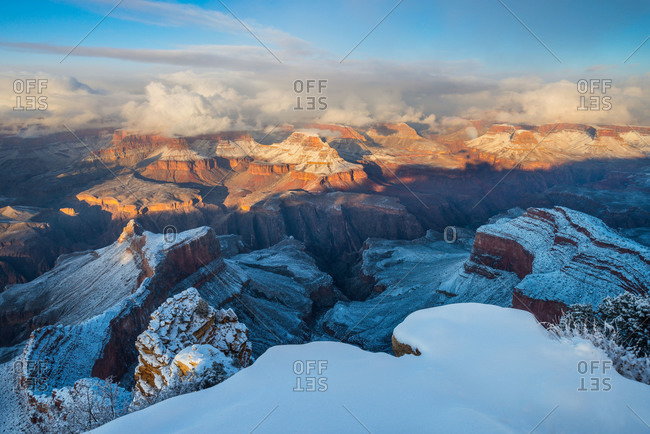 Winter at the South Rim of Grand Canyon National Park, USA