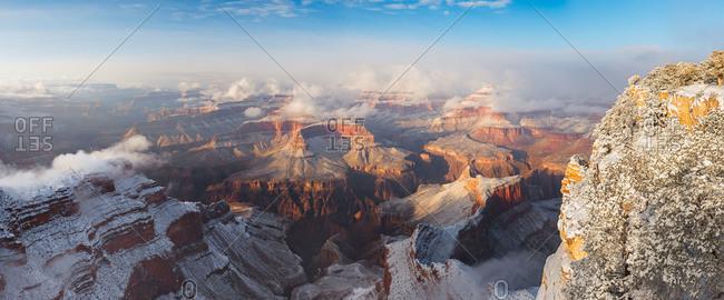 Winter at the Grand Canyon in Arizona, USA