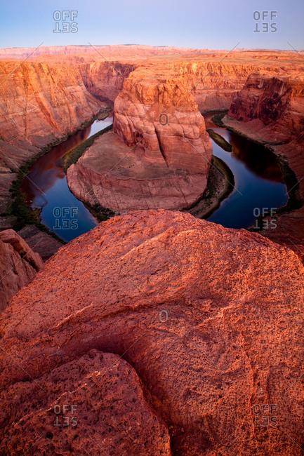 Sunrise at the Horseshoe Bend in Arizona, USA
