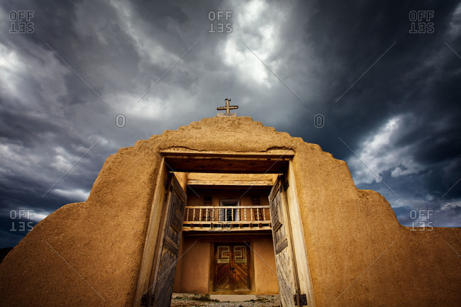 San Jose de Gracia Church in the village of Las Trampas, New Mexico, USA