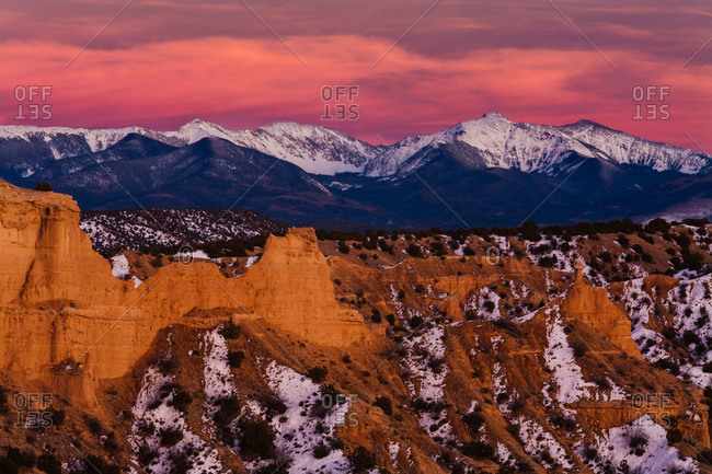 Truchas Peak and the Sangre de Cristo Mountains of northern New Mexico, USA