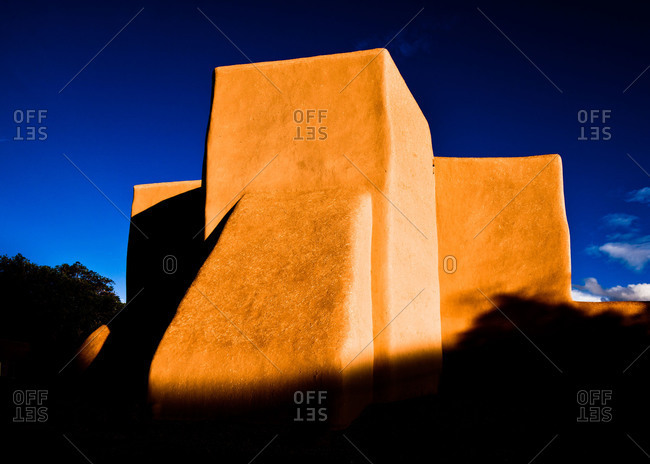 Exterior of San Francisco de Asis Church in Ranchos de Taos, New Mexico, USA