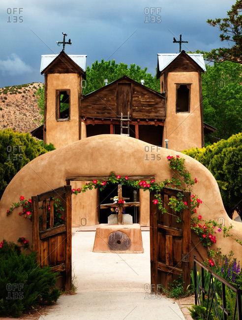 Santuario de Chimayo Church in the village of Chimayo, New Mexico, USA