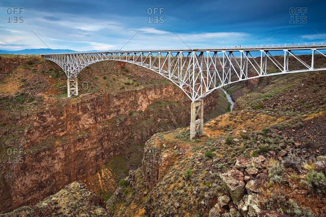 The Rio Grande River Gorge bridge in New Mexico, USA