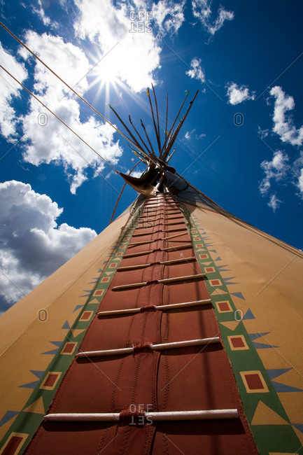 Low angle view og a tepee in New Mexico, USA