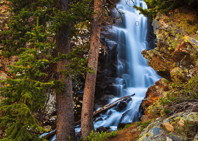 A waterfall in the Wheeler Peak Wilderness near Taos, New Mexico, USA