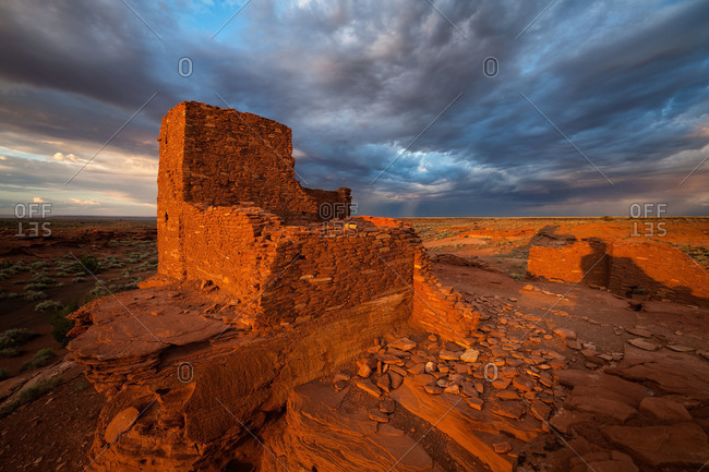 Wukoki Pueblo at Wupatki National Monument in northern Arizona, USA