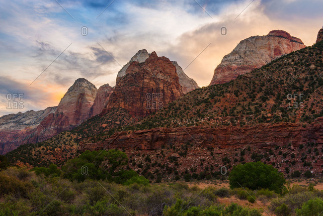 Sunrise at Zion National Park in Utah, USA