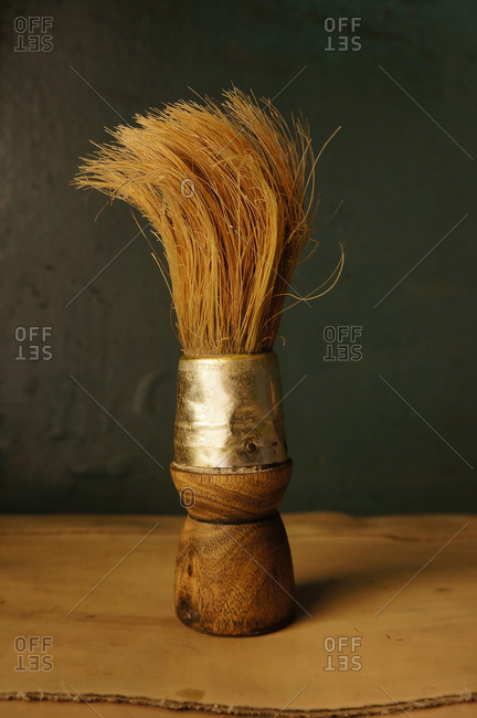 Still life of barber's brush