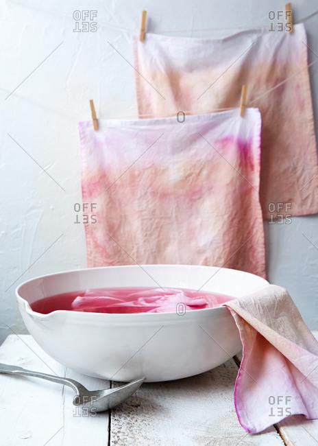 Natural dip dye in process