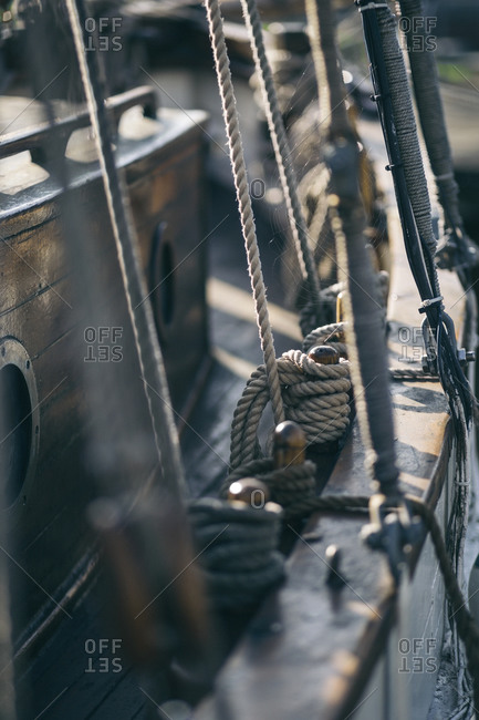 Ropes of a ship