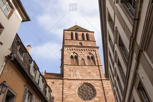 France, Strasbourg, view to Thomas Church from below