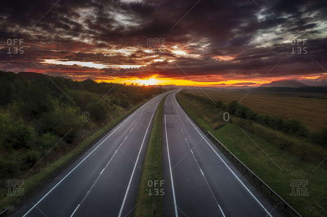 Road at sunrise