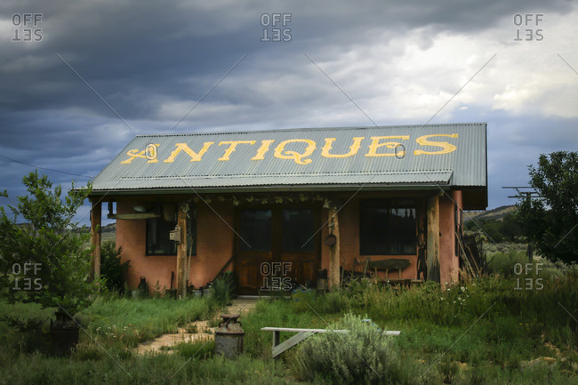 Weathered antique shop in New Mexico