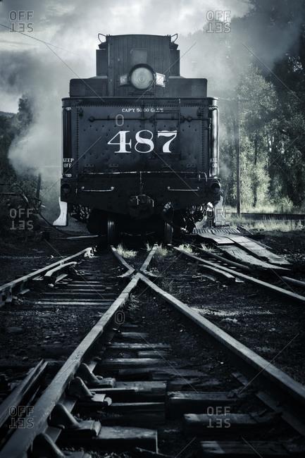 Old steam locomotive train - Offset