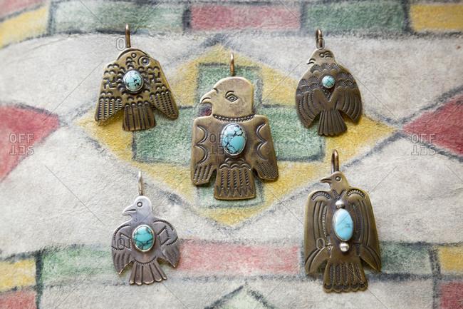 Peyote bird pendants - Offset Collection