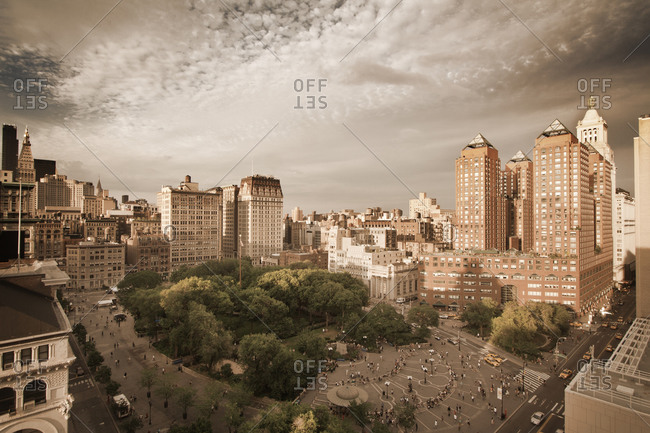Union Square in New York City, USA