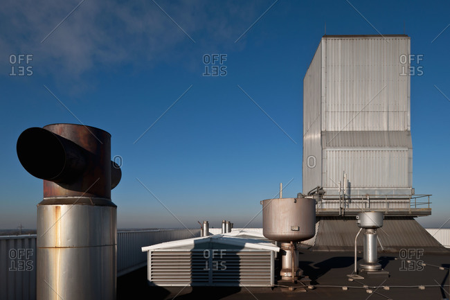 Rooftop vents on an industrial building