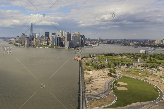 View towards Lower Manhattan from Governors Island in New York City