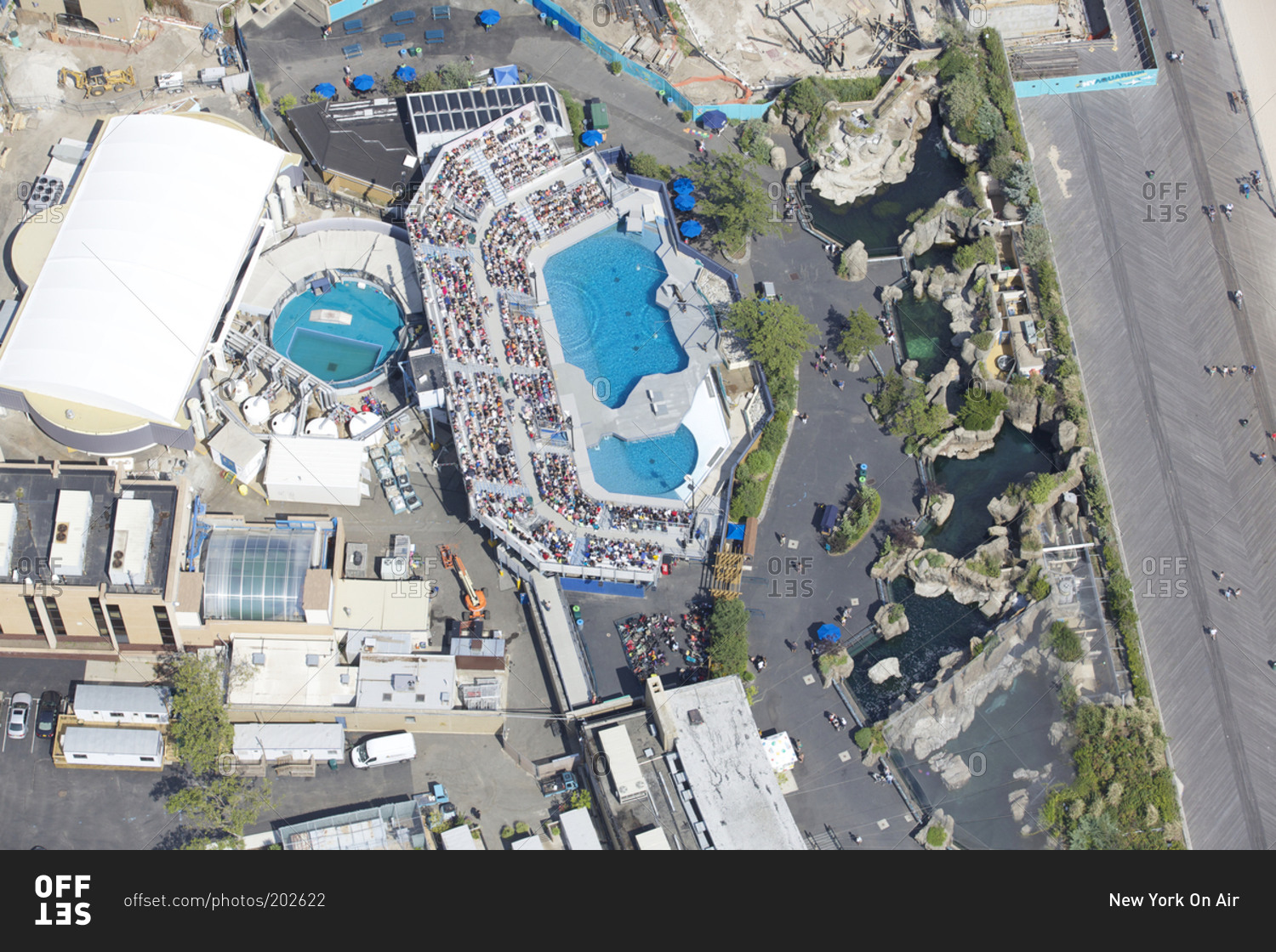 March 19 2015 aerial view of the new york aquarium in Aquarium in coney island