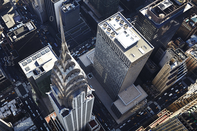 August 8, 2010: The Chrysler Building from above in Manhattan, New York City