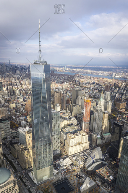 November 12, 2014: Exterior of the One World Trade Center in New York City, USA