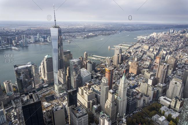 The One World Trade Center in Manhattan, New York City, USA