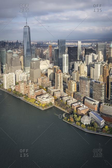 Cityscape of Manhattan in New York City, USA