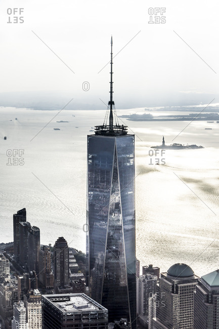 November 12, 2014: Exterior of The Freedom Tower in Manhattan, New York City, USA