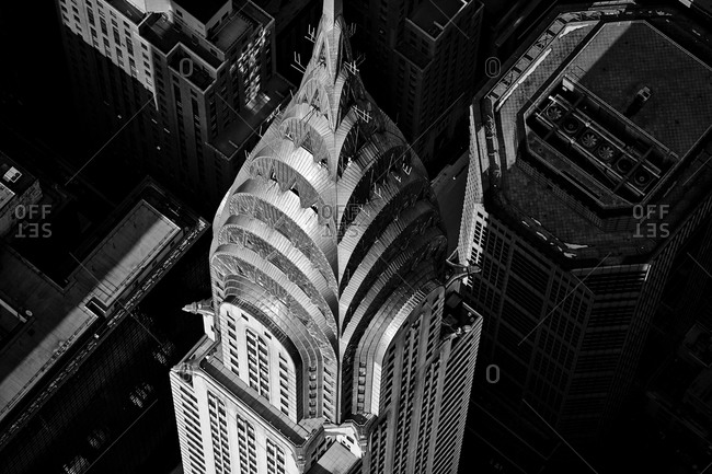 December 13, 2014: Exterior of the Chrysler Building in Manhattan, New York City, USA