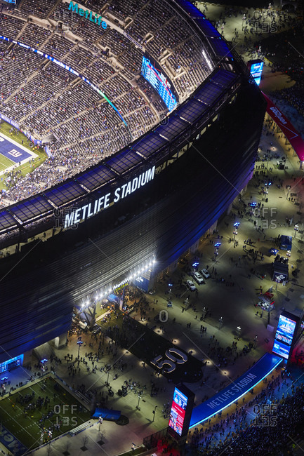 November 23, 2014: The MetLife Stadium at night in New Jersey, USA