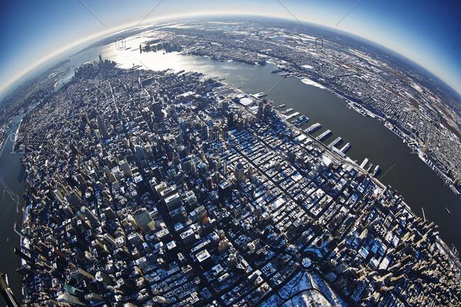 The Manhattan Island in New York City, USA