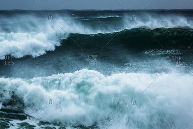 Ferocious stormy waves, Yamba Beach, Angourie, New South Wales, Australia