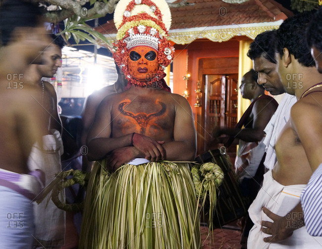 Kerala, India - January 24, 2011: Religious Hindu celebration